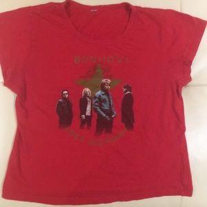 Tops - Vintage Bon Jovi band tee
